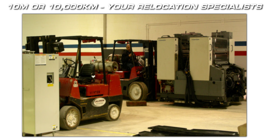 10m or 10,000km – Your Relocation Specialists - equipment