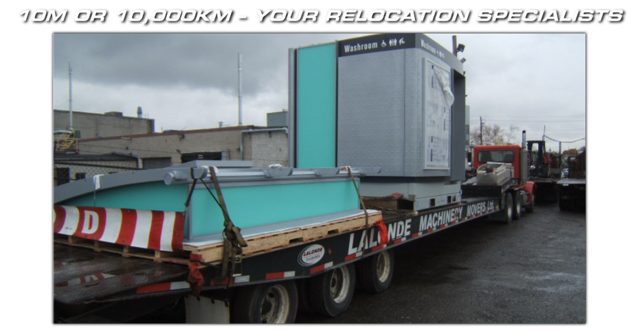 10m or 10,000km – Your Relocation Specialists - our equipment